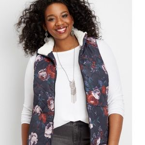 Maurices Sherpa lined puffy vest. NWT size 3